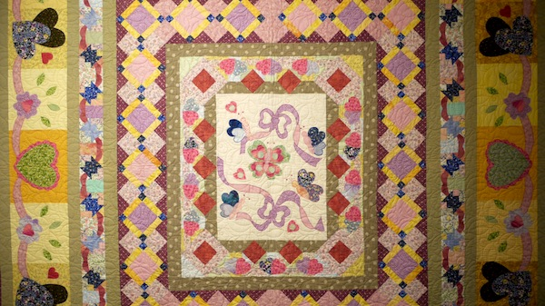 This photograph shows a detail of a patchwork quilt by Breda Browne which is on show as part of the Ciar Quilters annual show in Kerry County Museum. Tralee. The exhibition was hung by Ciarán Walsh of curator.ie